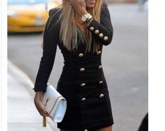 Mini Tuxedo Dress