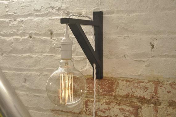 blanc bougeoir mural sur laiton lampe industrielle r tro. Black Bedroom Furniture Sets. Home Design Ideas