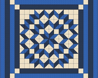 Quilt Pattern - Double Carpenters Star - Multiple sizes