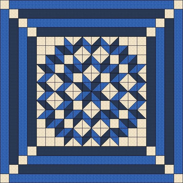 Quilt Pattern Double Carpenters Star Multiple Sizes