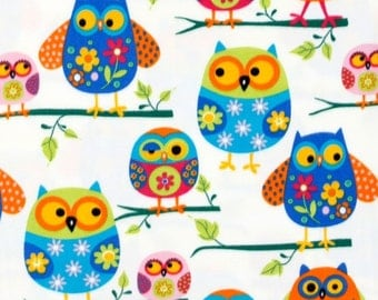 Anti-Pill Owls Fleece Fabric Sold by the Yard