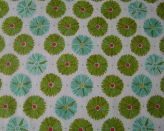 Multipuff Flower Flannel Fabric by the yard