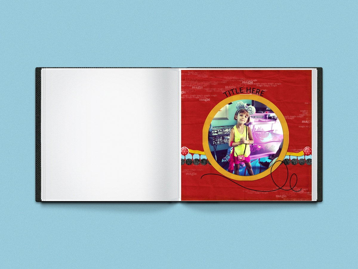 How to scrapbook disney vacation - Sold By Poeticsoupdesigns