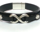FREE SHIPPING - Infinity bracelet with rivets