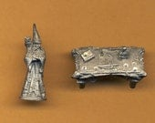 Ral Partha Wizard And Table 25mm Gaming Miniatures