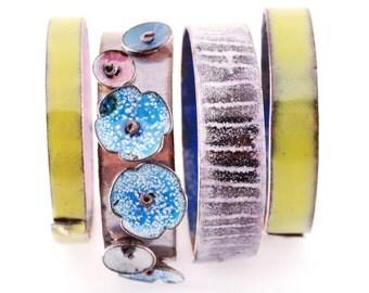 BLUES - enameled bangles