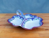 Vintage Hors doeuvres dish   late Victorian Masons Ironstone Mandarin pattern bonbon dish transfer ware antique china
