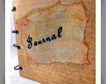 Pirate style journal,  Mens journal, Rustic, Shabby chic notebook