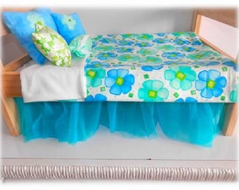 Bed skirt for American Girl Doll Bed