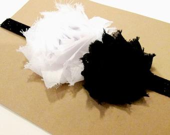 SALE- Black and White Baby Headband, Baby Headband, Baby Girl Headbands, Black and White Headband, Newborn Headband, Toddler Headband
