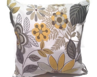 Decorative throw pillow with shades of yellow/gold and grey, home decor, other colors available!