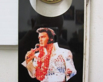 Elvis do not disturb door hanger