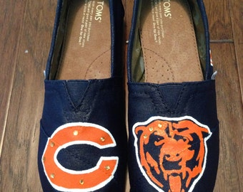 Custom Painted Toms Shoes- Chicago Bears