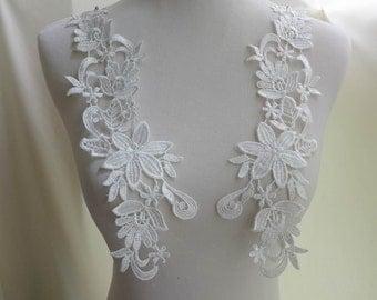 White Venice Applique, Bridal Lace Applique, Wedding Accessories