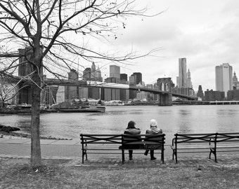 Original Photography. NYC Serie, By the River. Limited edition 20 copies. Signed