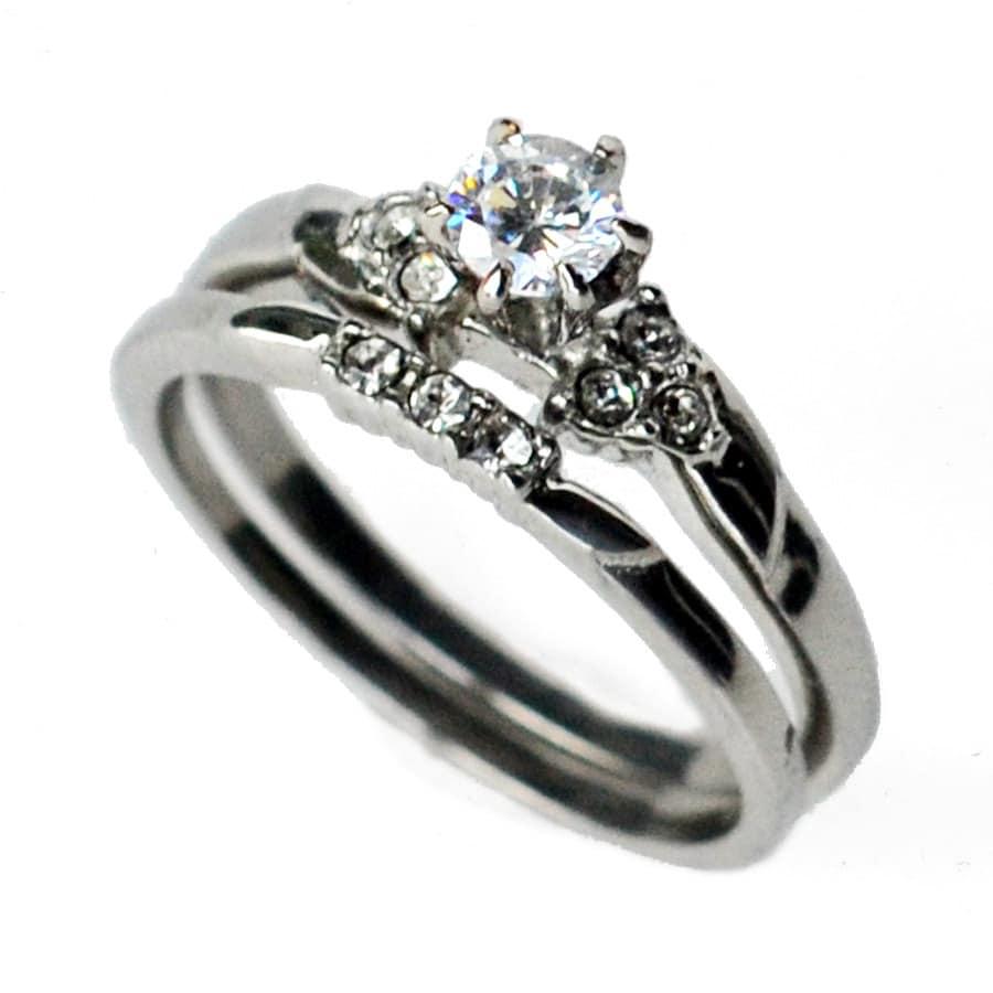 cz ring cz wedding ring cz engagement ring wedding ring. Black Bedroom Furniture Sets. Home Design Ideas