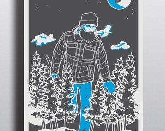 Paul Bunyan Poster Digital Art Print