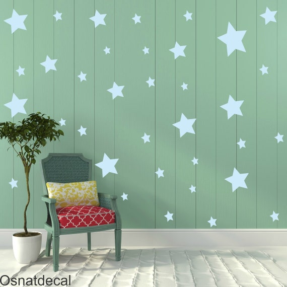 FREE SHIPPING Wall Decal  Stars Color Pastel Blue, Each Kit 150 Stars. Wall Sticker. Homedecor.Nursery Wall Art.Housewares