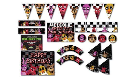 Five Nights At Freddys Free Printable Party Invitations