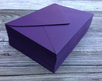 50 Dark Purple Aubergine A7 5x7 Invitation or A1 (4Bar) RSVP or A2 Pointed Flap Envelopes - Paper Source Envelope