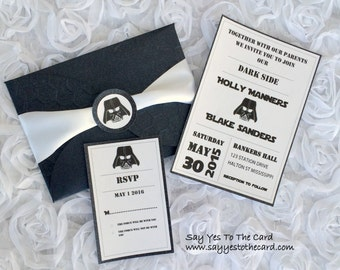 Diy Batman Wedding Invitation By Sayyestothecard Etsy, Wedding Invitations. Star  Wars ...