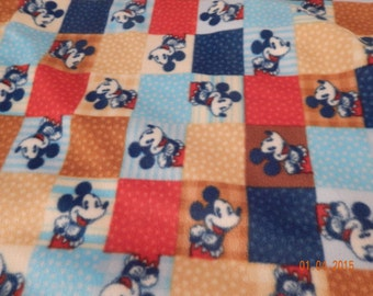 Custom Mickey Mouse Block Throw - #610