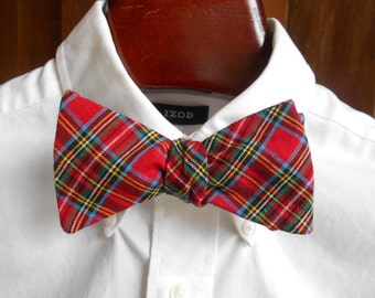 Bow Tie - Royal Stewart Tartan - Men's self tie