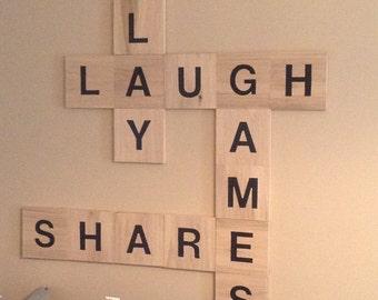 Medium 6x6 Wall ScrabbleTiles (Individual Letters or Set)