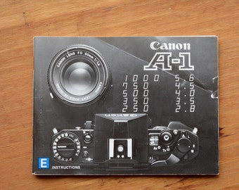 Canon A-1 Instruction Manual in English, 1978