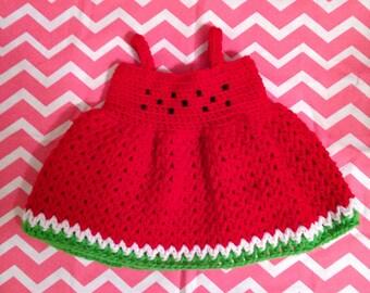 Crocheted Watermelon Dress