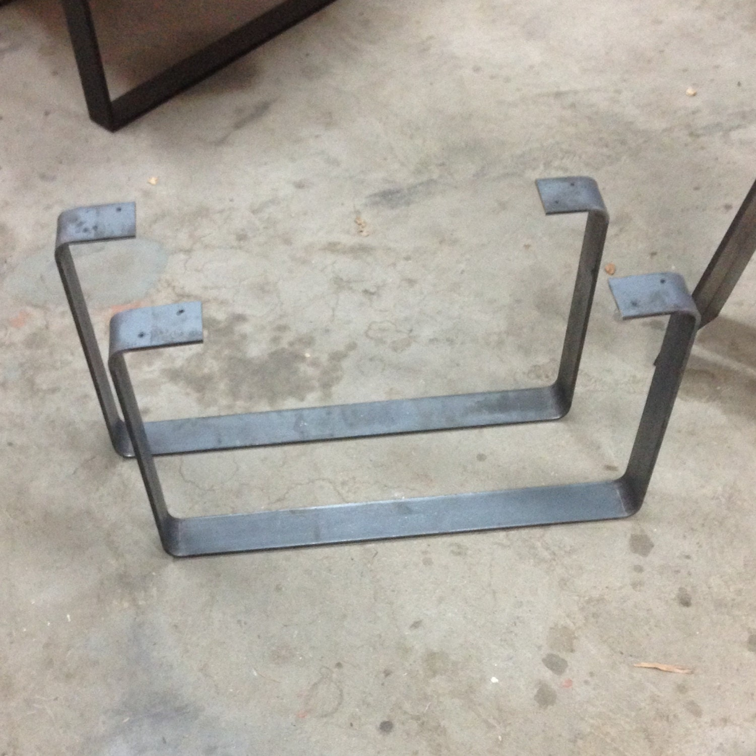flat bar steel table legs by emeraldcityslabs on etsy