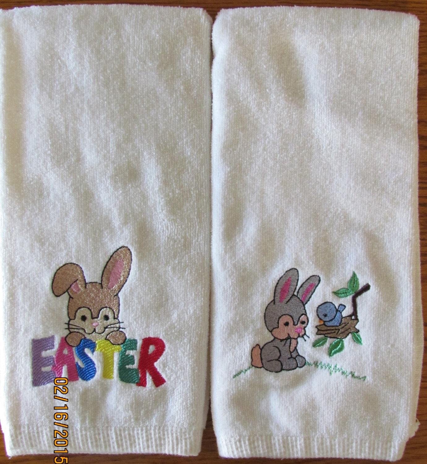 Https Www Etsy Com Listing 222845824 1 Set Easter Bunny Off White Cotton