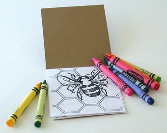 FREE US SHIPPING- One Mini Woodland Coloring Book