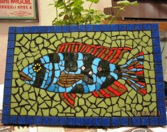 Mosaic mailbox tropical fish