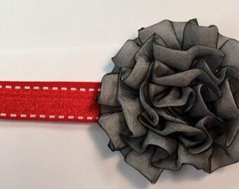 Grey Carnation Headband