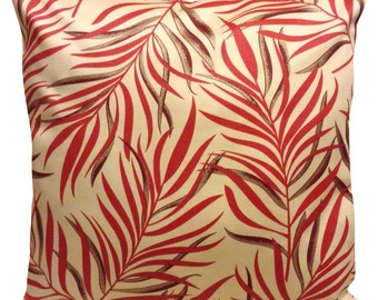Blendworth Fern Red & Cream Cushion Cover