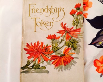 "Antique Book of Poetry, ""Friendship's Token"", Keepsake Book of Poems"