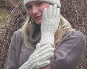 Hand Knit 100% Alpaca Gloves. Great for Winter - Perfect Holiday Gift idea, or for Birthday Gift!