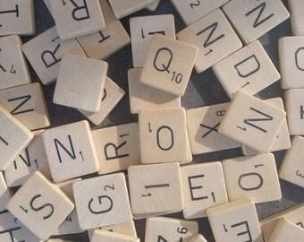 Pick your own letters: Original wooden Scrabble tiles