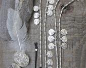 Silver  Belt, Tribal Belly Chain, body jewelry, belly dance accessory, beaded belt, bohemian jewelry, boho jewelry, boho