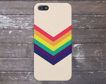Chevron Rainbow Phone Case, iPhone 7, iPhone 7 Plus, Protective iPhone Case, Galaxy s8, Samsung Galaxy Case, Note 5, CASE ESCAPE