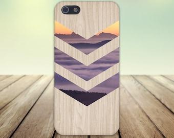 Purple Fog Orange Sunset Chevron Wood Print Case,  iPhone 7, iPhone 7 Plus, Tough iPhone Case, Galaxy s8, Samsung Galaxy Case, CASE ESCAPE