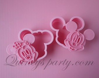 Mickey Minnie 2 in 1 Cookie Cutters