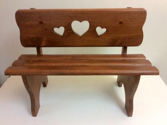 Vintage handmade wooden child 39 s pine bench park bench - Handmade wooden garden benches ...