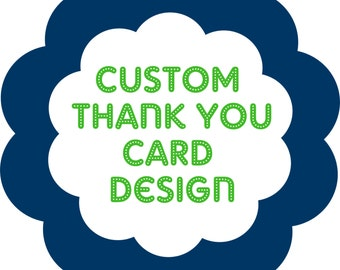Personalized, Customized THANK YOU Card (must have previously purchased invitation from Twenty Toes Designs)