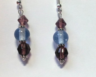 "Earrings ""Blue & Violet 1"""