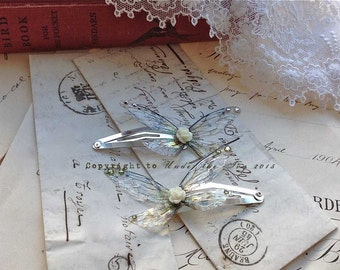 Pretty Faerie wing hair slides