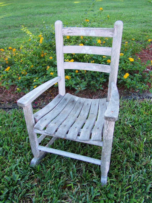 Antique children s wooden rocking chair photo prop