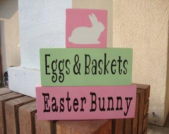 SALE SALE SALE!!! Eggs & Baskets - Easter Bunny - Home Decor