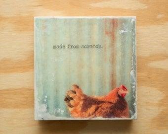 Animal Art of Chicken 8x8